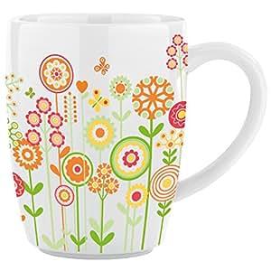 Ritzenhoff 3070004 Design 2013, Burkhard Neie - Taza de porcelana (570 ml), diseño de flores