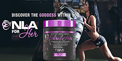 NLA for Her - Shred Her - All Natural Ultra Concentrated Thermogenic Fat Burner - Supports Energy Levels and Mood, Increases Fat Loss, & Helps Suppress Appetite - 60 Capsules