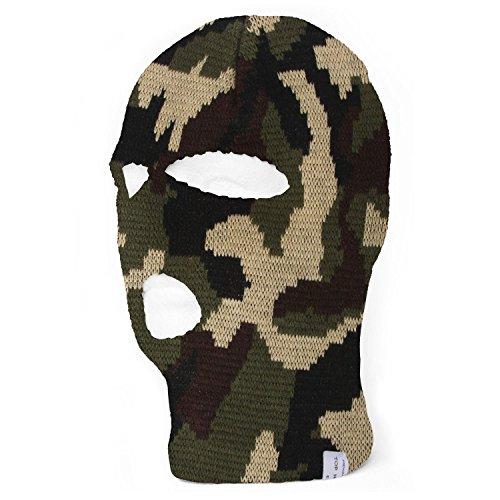 TopHeadwear Face Ski Mask 3 Hole (More Colors) - Woodland Camo