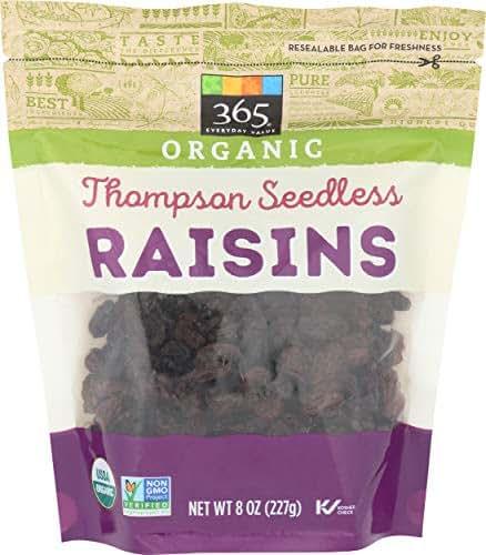 Dried Fruit & Raisins: 365 Everyday Value Organic Thompson Raisins
