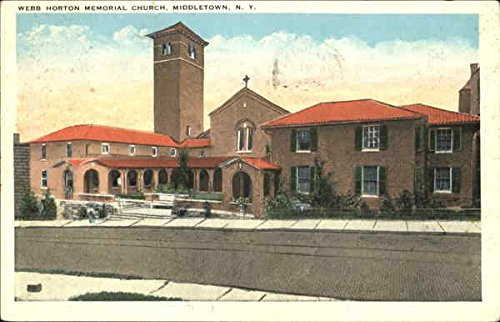 Webb Horton Memorial Church Middletown, New York Original Vintage Postcard