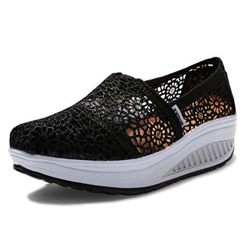 Solshine Chaussures Coincent De Plateau Noir Haut Sport Dames fqwzUddS