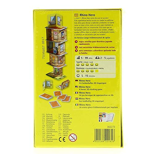 Amazon.com: HABA – Rhino Hero (302273): Toys & Games