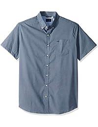 684804368 Men's Big and Tall Short Sleeve Button Down Comfort Flex Shirt