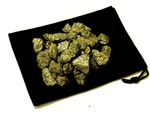 """Zentron Crystal Collection 1 lb Rough Pyrite 1/2"""" Pieces - Natural Raw Fool's Gold Stones for Cabbing, Faceting, Tumbling, Reiki, Healing, Chakra, Wicca"""