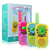 Walkie Talkies for Kids, 22 Channels 2 Way Radio Toy for 3-12 Year Old Boys Girls, 3 Miles Long Range with Flashlight and LCD Screen for Outside, Camping, Hiking (3 Pack)