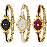 Shocknshop Multicolour Women's Analogue Bangle Watch (W0145) - Combo of 3
