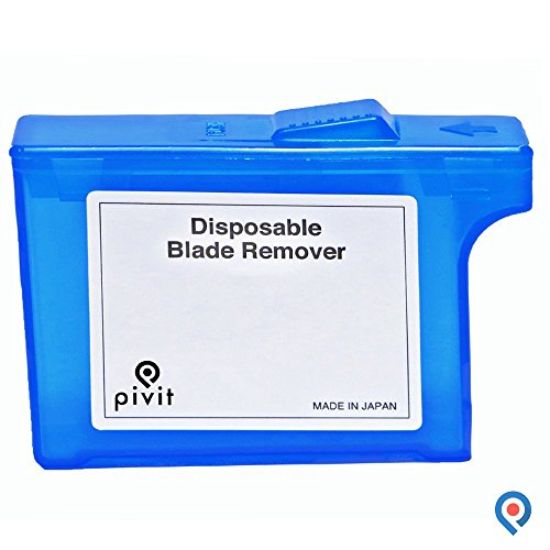 Scalpel Blade Removal - Pivit Palm-Sized Disposable Blade Remover | Large Capacity Holds 150 to 300 Blades | Can Be Used For Any Size Or Type Of Scalpel Handle | No Direct Contact With Blades For Protection Against Infection