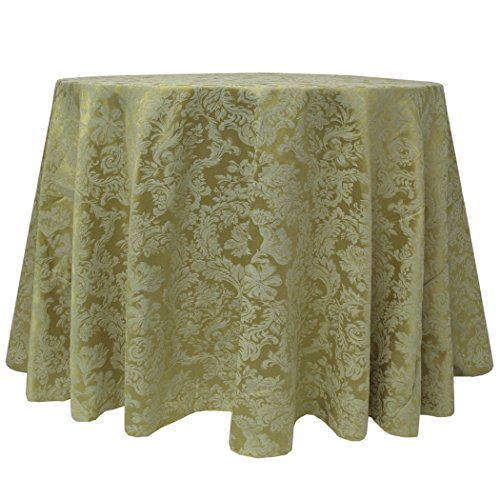 (Ultimate Textile Miranda 90-Inch Round Damask Tablecloth Sage Green)