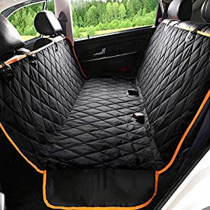 Kytely Dog Car Seat Cover with Side Flaps, Pet Seat Covers for Back Seat, Scratch Proof & Nonslip Backing & Hammock, Dog Seat Cover for Cars, Trucks and Suvs 36