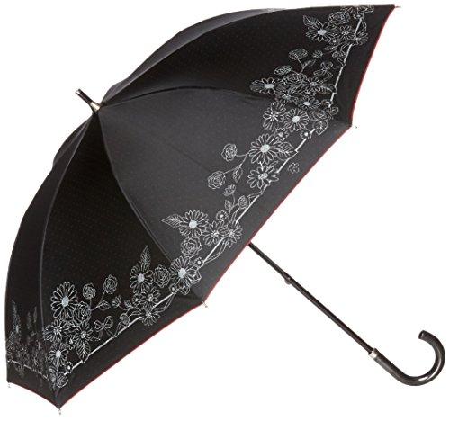 (문 배트) MOONBAT 랑방 온 블루 쇼트산(차열&차광) 파라솔&우산 양산 우산 겸용 꽃 프린트
