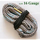 New Bore Snake Cleaning 16 GA Gauge Boresnake Shotgun Gun Barrel Bronze Cleaner Hunting