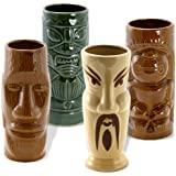 Tiki Island Mugs Set of 4