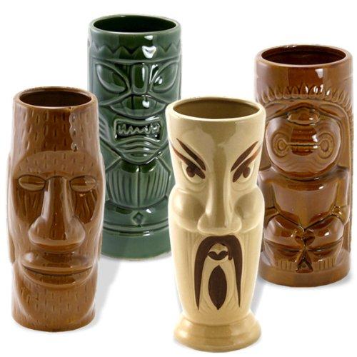 Tiki Island Mugs Set of 4 -