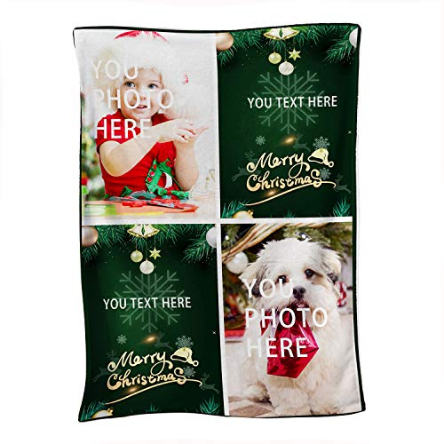 "ILPALADINO Custom Personalized Throw Blanket with Picture/Photo Printing Soft Flannel Blanket for Family Pets Friend Birthday Gifts and Wedding Gifts (32""X48"")"
