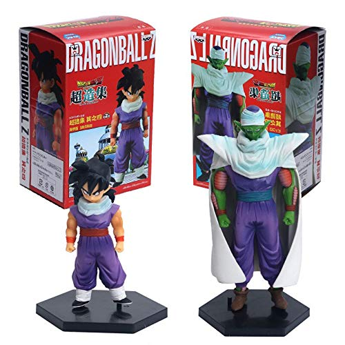 Cailiaoxindong Anime 2pcs/Set Dragon Ball Z The Son Gohan Piccolo with Cape PVC Action Figures Collection Model Kids Toys Doll 17cm juguetes (with Box) -
