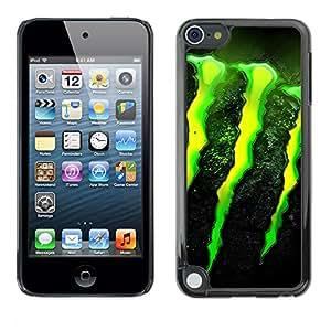Jordan Colourful Shop - MONSTER For Apple iPod Touch 5 - Personalizado negro cubierta de la caja de pl??stico -