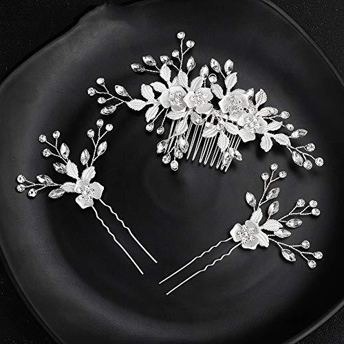 Leaf Crystal Handmade Bridal Hair Pins/Combs Headband Wedding Hair Accessories Jewelry Bride Hair Pins FS270 Clear rose gold hair pin