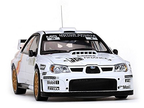 (NEN 1:18 SUNSTAR COLLECTIBLE - WHITE SUBARU IMPREZA WRC07 #22 G. JONES / C. JENKINS - TOUR DE CORSE - RALLY DE FRANCE 2008 Diecast Model Car By SunStar)