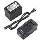 Kastar LED Super Fast Charger & Camcorder Battery x1 for Panasonic VW-VBK360 HC-V700 HDC-HS60 HS80 SD40 SD60 SD80 SD90 SDX1H TM40 TM41 TM55 TM80 TM90 SDR-H100 H101 H85 S50 S70 S71 SDR-T50 T70 T71 T76