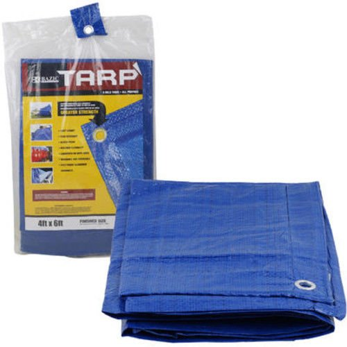 Bazic 4x6 Tarp Multipurpose Weather Resistant