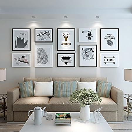 Kkllss Modernes, Minimalistisches Wohnzimmer Dekoration Malerei Sofa  Hintergrund Wandmalerei Wandmalerei Schwarz Und Weiss Kombination Im