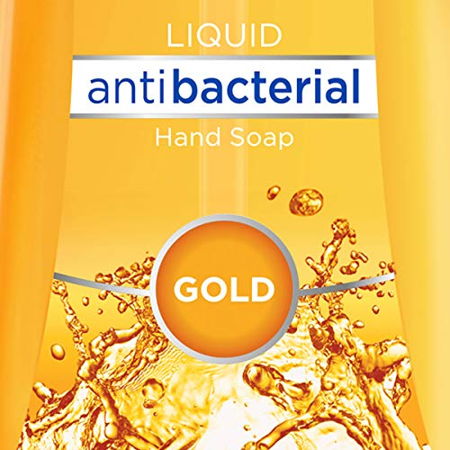 Dial Antibacterial Liquid Hand Soap, Gold, 9.375 Ounce (Count of 4)