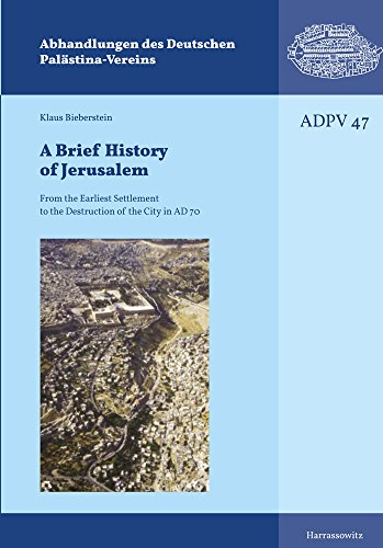 A Brief History of Jerusalem: From the Earliest Settlement to the Destruction of the City in Ad 70 (Abhandlungen Des Deutschen Palastina-Vereins)