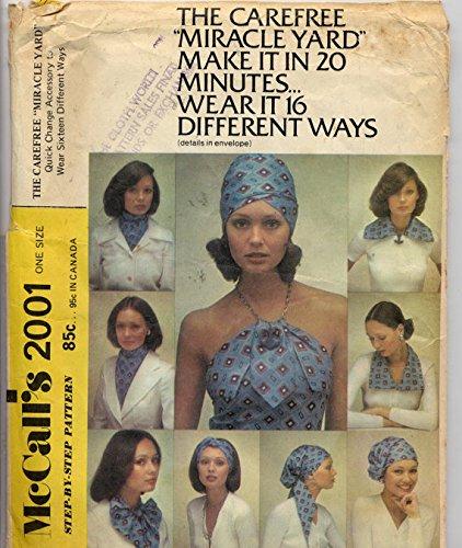 1970s McCall's Pattern 2001