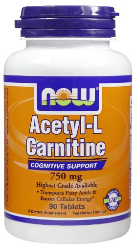 NOW Foods Acetyl-L-Carnitine 750 mg - 90 Tablets by NOW Foods