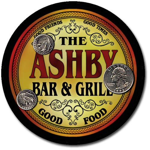Ashby Family Bar and Grill Patriotic Rubber Drink Coaster Set