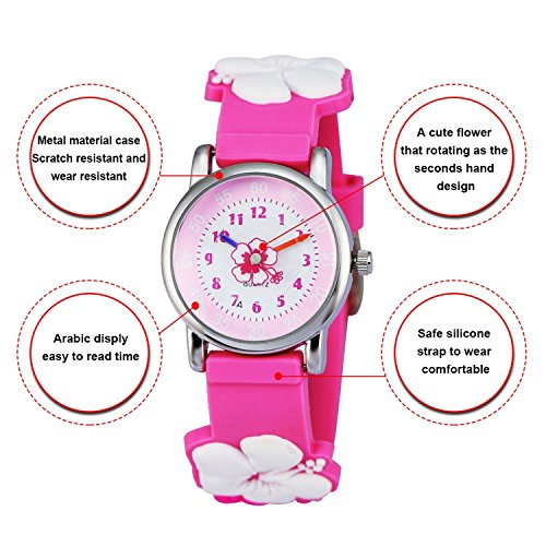 Kids Watch my first Easy Reader Wrist Watches Boys Girls Toddler Waterproof Children Time Teacher 3D Cute Cartoon Silicone Quartz Learning Gift for Little Child by Meetyoo (Image #5)