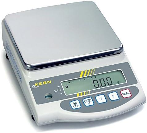 Präzisionswaage mit Eichzulassung [Kern EG 4200-2NM] Der Klassiker mit dem robusten Stimmgabel-Messsystem, Wägebereich [Max]: 4200 g, Ablesbarkeit [d]: 0,01 g, Reproduzierbarkeit: 0,01 g, Linearität: 0,02 g, Wägeplatte: BxT 180x160 mm (Edelstahl)