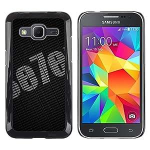 MOBMART Carcasa Funda Case Cover Armor Shell PARA Samsung Galaxy Core Prime - Dark Printed Seven