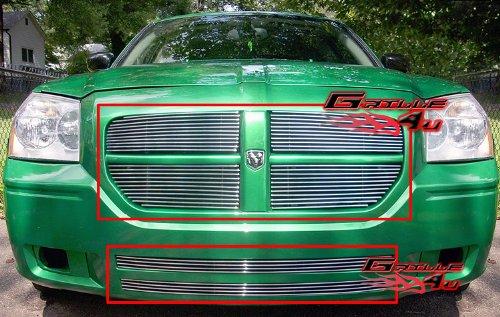 APS Fits 2005-2007 Dodge Magnum Billet Grille Combo #D87982A ()