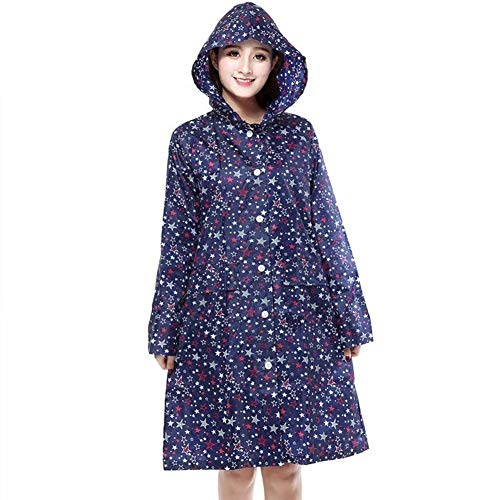 Coat Rainwear Sunscreen Waterproof Blau Pengfei Battercake Donne Drifting Casuale Colors Female Printing Poncho 2 Raincoat Tourism wgnXTBxq
