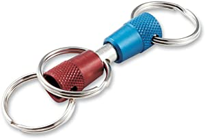 Lucky Line 3-Way Pull Apart Keychain, Blue and Red, 1 Pack (71701)