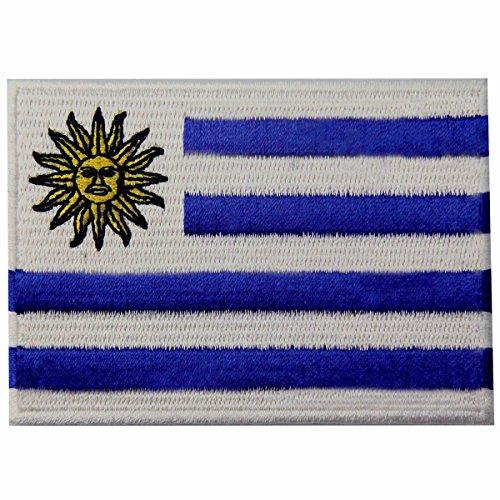 Uruguay Flag Embroidered Emblem Uruguayan Iron On Sew On National (Uruguay Flag Patch)