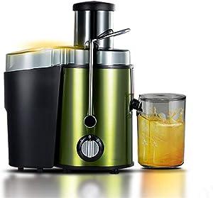 Juicer, Whole Fruit and Vegetable Juicer Powerful 400W Large Feeding Tube Centrifugal Power - Juicer Machine,Green