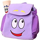 IGBBLOVE Dora Explorer Backpack Rescue Bag with Map,Pre-Kindergarten Toys Purple