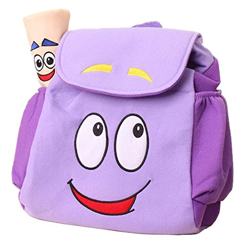 IGBBLOVE Dora Explorer Backpack Rescue Bag with Map,Pre-Kindergarten Toys Purple -