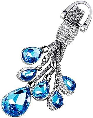 Amazon.com: Llavero de cristal brillante hecho a mano con ...