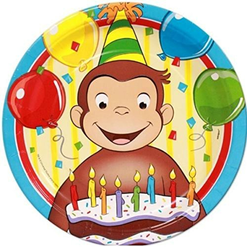 Curious George~ (8) Large Lunch/Dinner Plates ~Birthday Party Supplies by Un