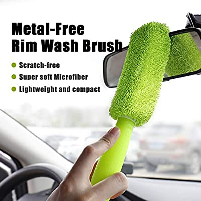 Wheel and Rim Detailing Brush 16 inch RIDE KINGS Car Wheel Cleaning Brush Kit Exhaust Tips Curved Tire Brush Pack of 4 Rims Multipurpose use for Wheels Soft Bristle Car Cleaning Tire Brush