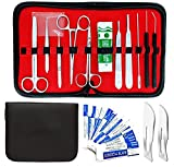 30 Pcs Advanced Biology Lab Anatomy Medical Student Dissecting Kit Set With Scalpel Knife Handle Blades Ideal for Student, Hobby, Taxidermy and More (DES-KIT-110)