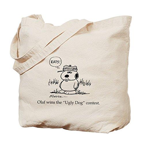 CafePress–feo perro–Gamuza de bolsa de lona bolsa, bolsa de la compra
