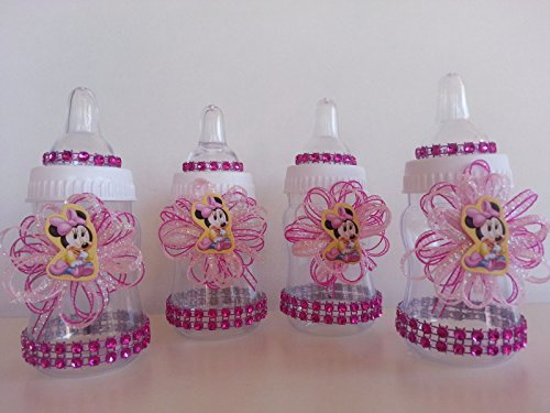 12 Minnie Mouse Pink Fillable Bottles Baby Shower Favors Prizes Girl Decorations by Product789 (Image #1)