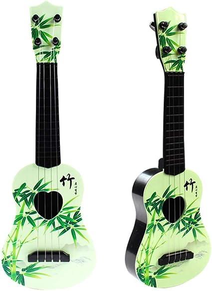 NIMEDI Educativos Para Niños Ukelele Música Para Niños Guitarra Simulación Mini Puede Tocar Juguete Instrumento Musical Principiante Hembra 42Cm Roble Blanco + Tutorial Simple + Selección, G: Amazon.es: Instrumentos musicales