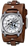 Nemesis Men's 931DBFRBS Web of Skulls Series Analog Display Japanese Quartz Brown Watch