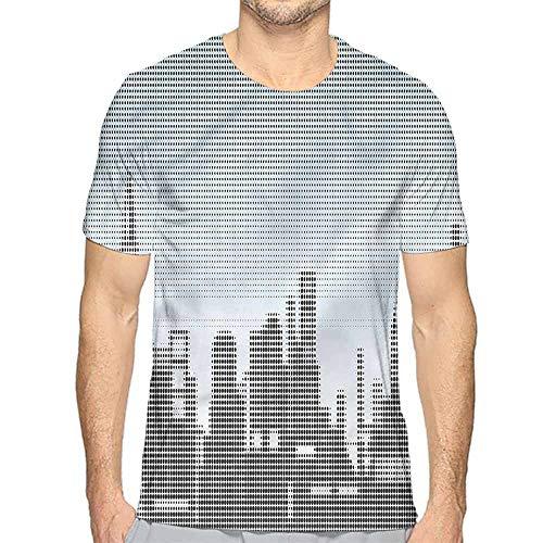 t Shirt for Men Digital,City Skyline Futuristic Custom t Shirt L]()